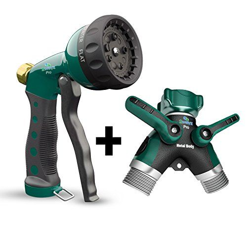 2wayz Garden Hose Splitter Hose Nozzle with Heavy Duty Metal Body Attachments and 3 Rubber Washers Set of 2 ** Learn more by visiting the image link. This is Amazon affiliate link.