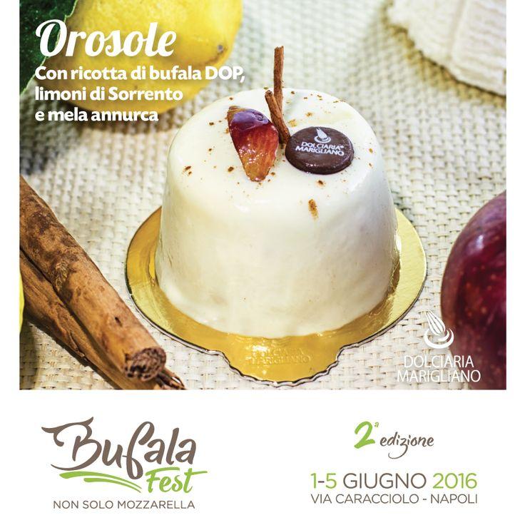 Chi viene ad assaggiarlo stasera al #Bufala Fest?  #Orosole - Ricotta di Bufala DOP, Mela Annurca e Limoni di #Sorrento #DolciariaMarigliano #BufalaFest #Napoli