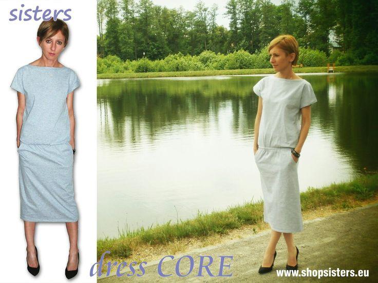 Sukienka CORE - Idealna na spacery jak i do pracy. Marki Sisters na www.shopsisters.eu #dress #sisters #shopsisters #sukienkadresowa #summer2016 #workdress #sukienka #prostasukienka #fashion #damen  #kleid #abito