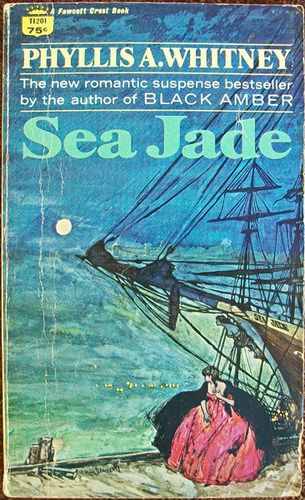 http://www.amazon.com/Sea-Jade-Phyllis-A-Whitney/dp/9997409973 This one I know I read. I distinctly remember the cover.