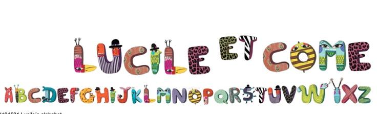 sisustus - seinätarrat - Alphabets -seinätarrat - Baobab Kids & lifestyle