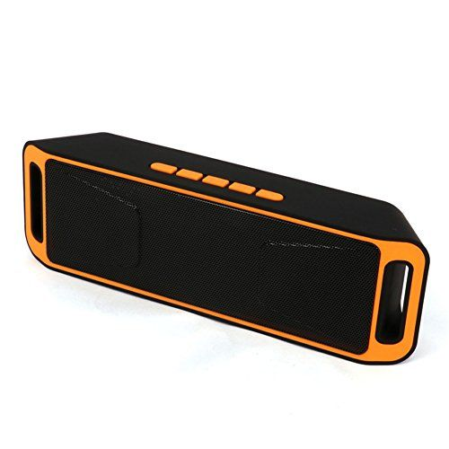 Cheap Neissstar Portable Wireless Speaker Bluetooth 4.0 Stereo Subwoofer Built-in Mic Dual Speaker Bass Sound Speakers Support TF USB FM Radio (Orange) Best Selling