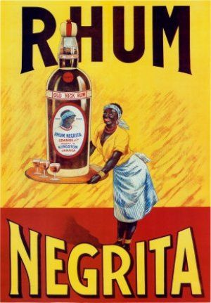 Negrita Rhum - old advertising - Rum