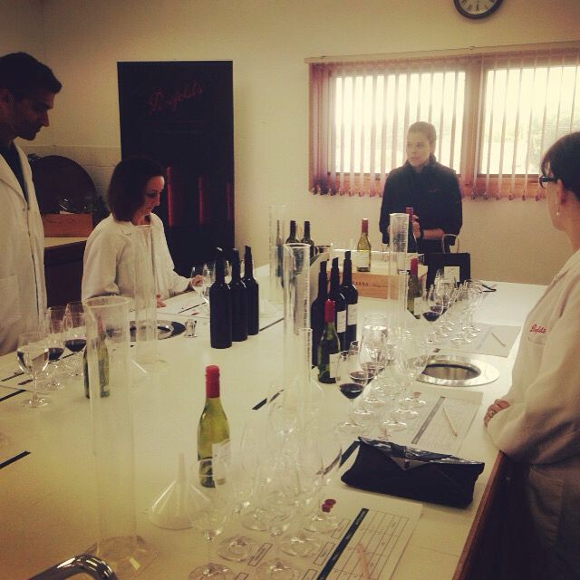 Penfold's make your own blend experience at the Nuriootpa cellar door.