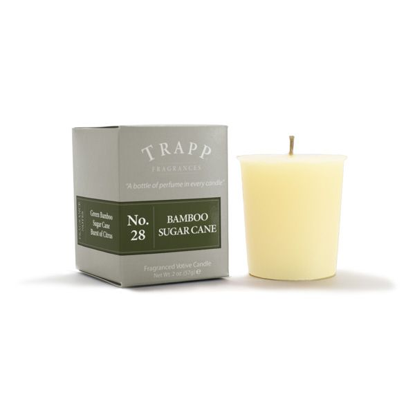 No 28 Bamboo Sugar Cane - 2oz Votive Candle | Trapp Candles