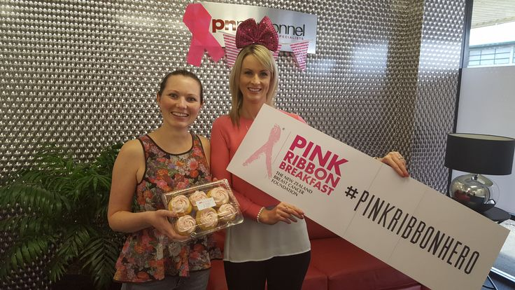 Oh look, it's our lovely Service Coordinator Bobbi (currently on parental leave). Great to see you Bobbi, and thanks for being a #pinkribbonhero by purchasing some yummy cupcakes! #pinkribbon #pnpinkribbon