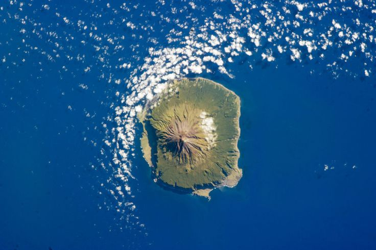 Tristan da Cunha on 6 February 2013, as seen from the International Space Station