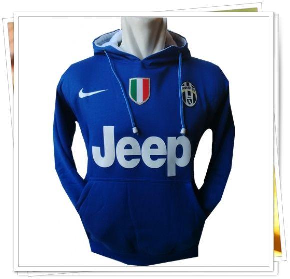 Jaket/Sweater Hoodie Bola - Juventus (Biru)