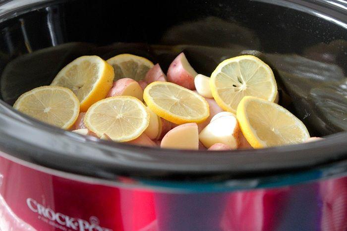 Slow Cooker Lemon Honey and Dijon Chicken Dinner | Recipe