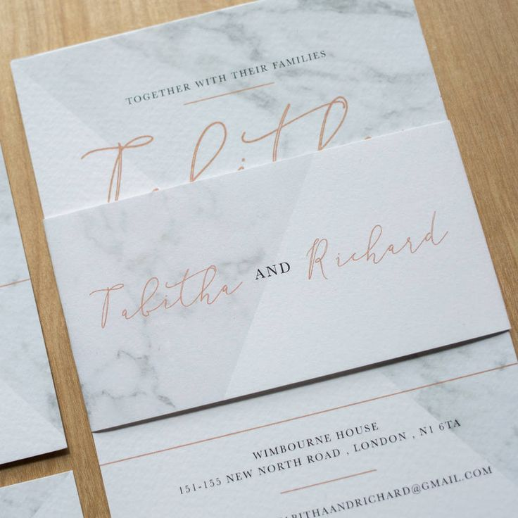 1000+ Ideas About Modern Wedding Invitations On Pinterest