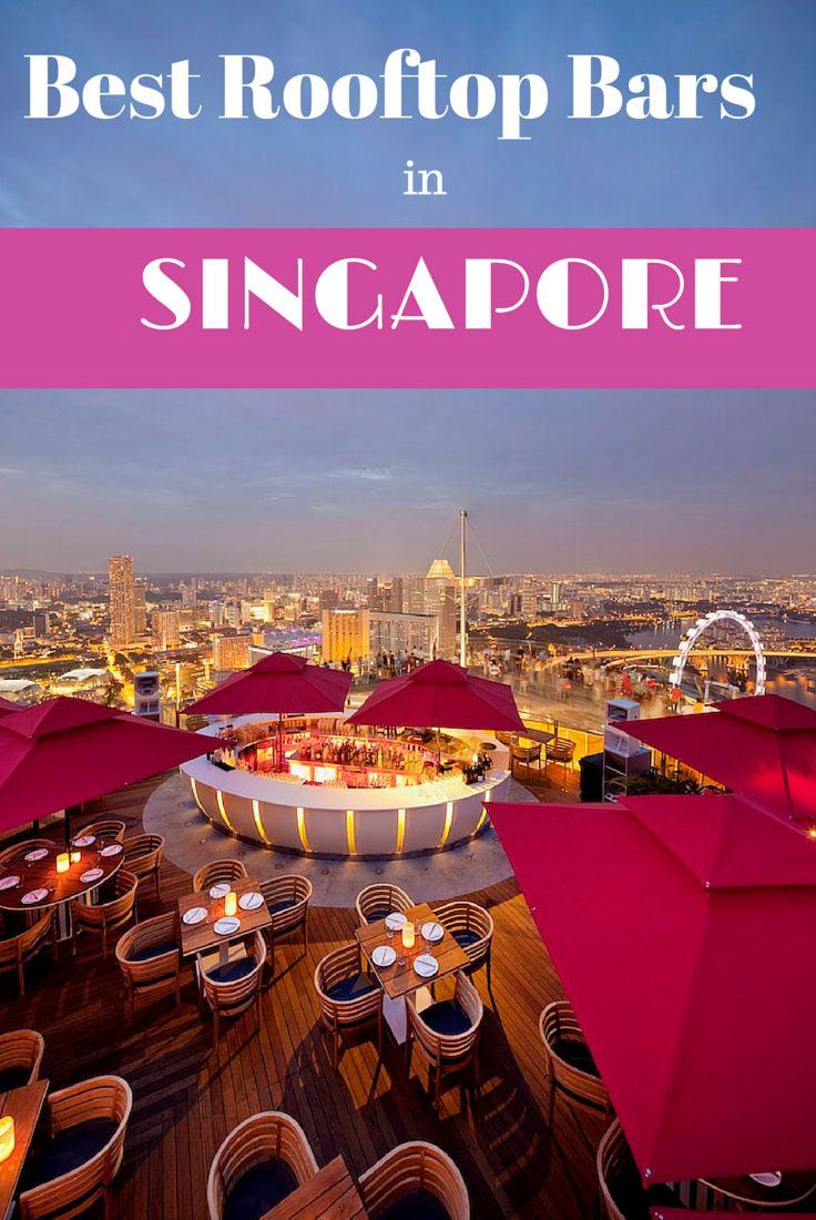 Un resumen de los mejores bares de la azotea en Singapur. Incluye Ku De Ta en el Marina Bay Sands y 1-Altitud, bar al aire libre más alta del mundo.