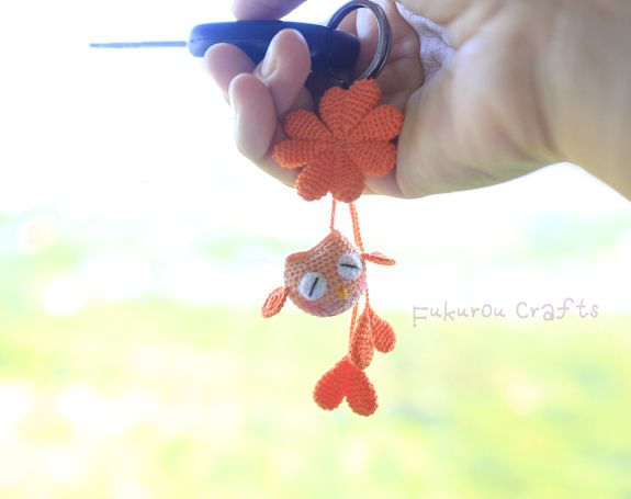 fukuroucrafts: Crochet Lucky charms, lucky doll, pink owl doll, c...