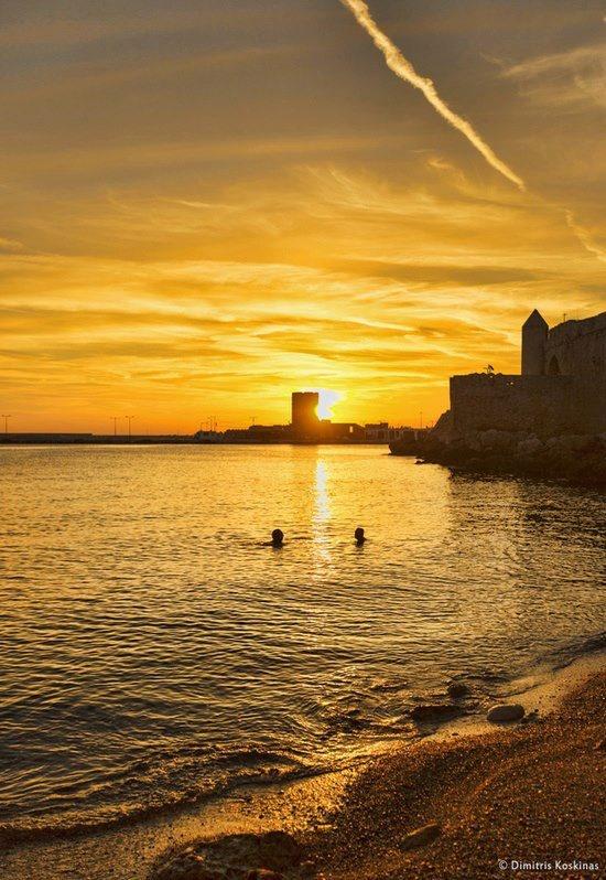 Brilliant Sunrise at Rhodes Island, Greece