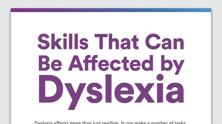Some people think dyslexia only affects reading. Find out how dyslexia can affect different skills, including reading, writing, spelling, speech, learning and more.