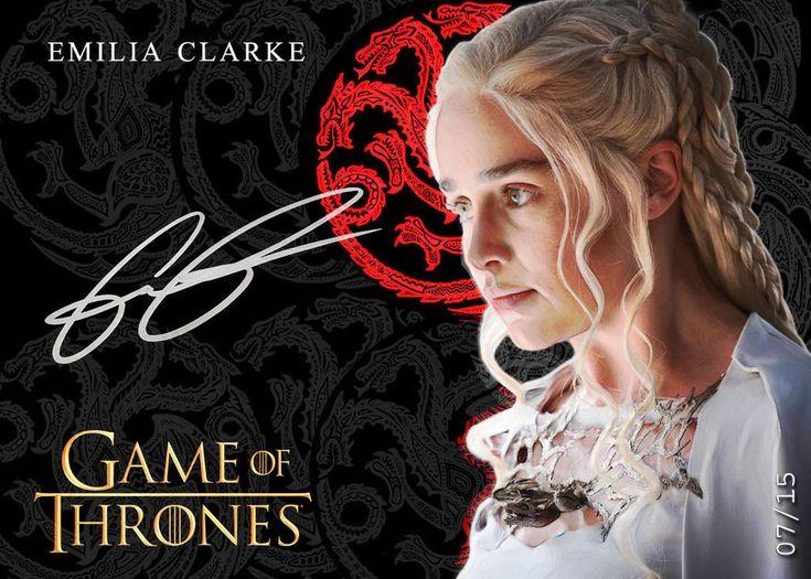Daenerys Emilia Clarke - The Targaryen*QueenCard Game of Thrones SP9 Auto