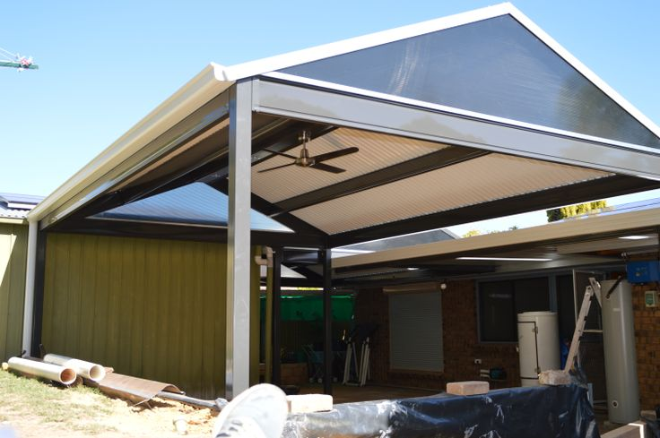 Patio - gable structures have chance to add LED down lights and fans