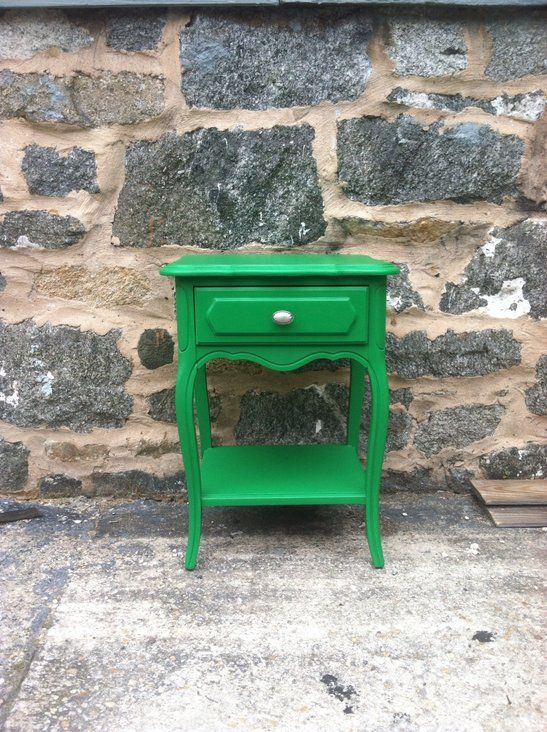 Emerald Green Nightstand/End Table —
