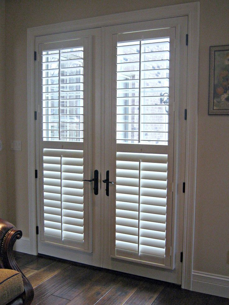 Bifold French Doors Home Design Ideas Pictures Remodel: Interior Simple White Venetian Blinds On Bi Fold Glass