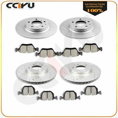Lincoln Fusion For Ford MKZ Front Rear Blank Brake Rotors+Ceramic Brake Pads