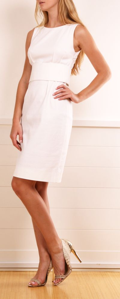 Little White D&B Dress