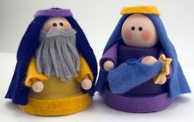 Playing with Baby Jesus (Homemade Nativity Sets)