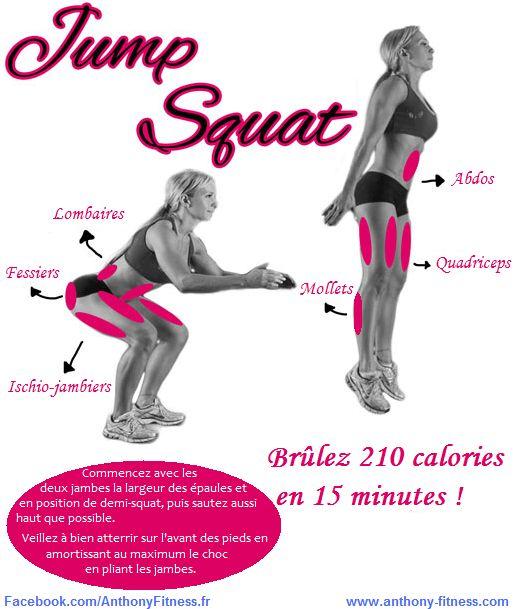 Le Jump Squat : Un très bon exercice pour travailler le bas du corps et pour brûler beaucoup de calories !