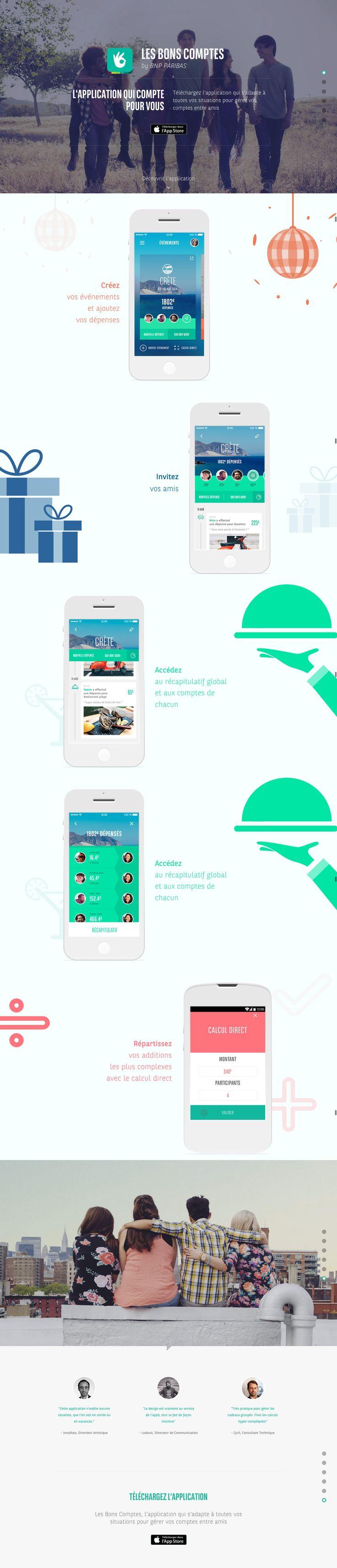 Les Bons Comptes | BNP Paribas - https://lesbonscomptes.bnpparibas.net/ - #webdesign #onepage #scroll #scrollmagic #interactive #app