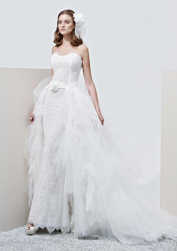 "Collezione Privée 2015 - Elisabetta Polignano Modello ""Mantona"": stile sirena con tulle #wedding #weddingdress #weddinggown #abitodasposa"