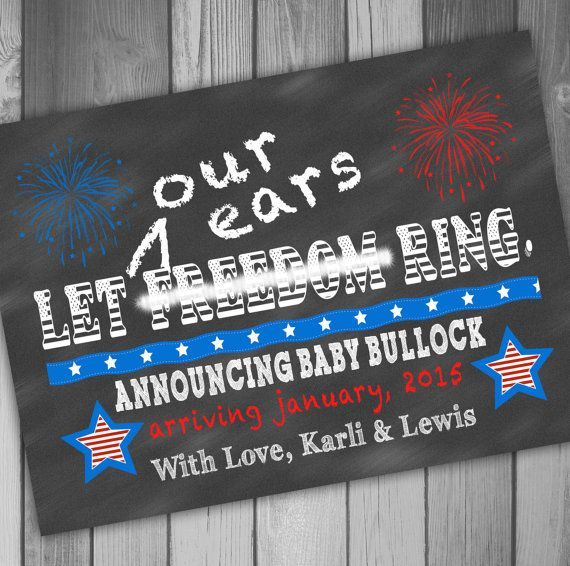 Pregnancy Announcement 4th of July Funny Pregnancy by CLaceyDesign, $15.00