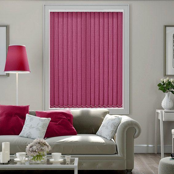 Mcintyre Deep Pink Vertical Blind from Blinds 2go