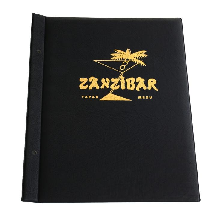Classic Menu with Gold Embossed Print http://fcmsales.com.au/