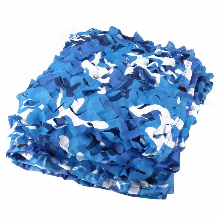2M*2.5M filet camouflage netting blue camo netting for camping sun tarp beach tarp sun shelter gazebo netting pergolas netting