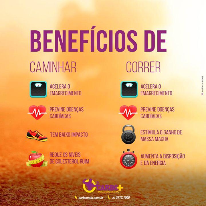 Benefícios caminhar/ correr
