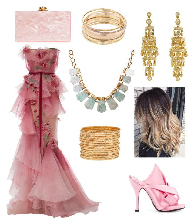 """""""Pink Outfit"""" by miwemporium92 on Polyvore featuring N°21, Edie Parker, Mudd and Christina Greene"""
