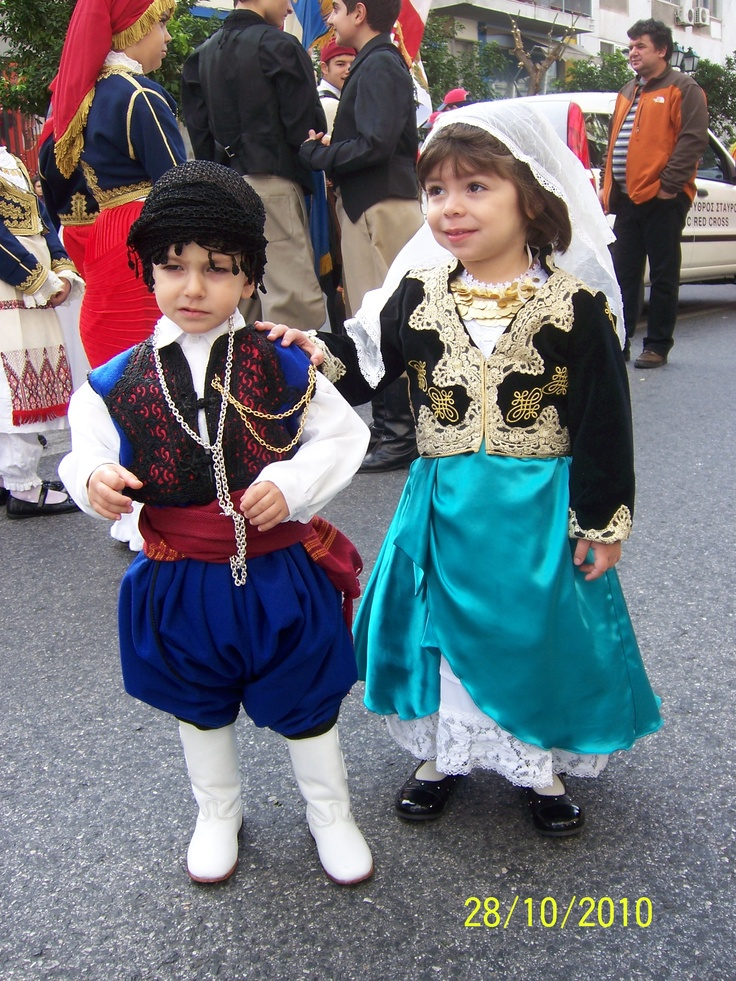 Cretan traditional children costumes