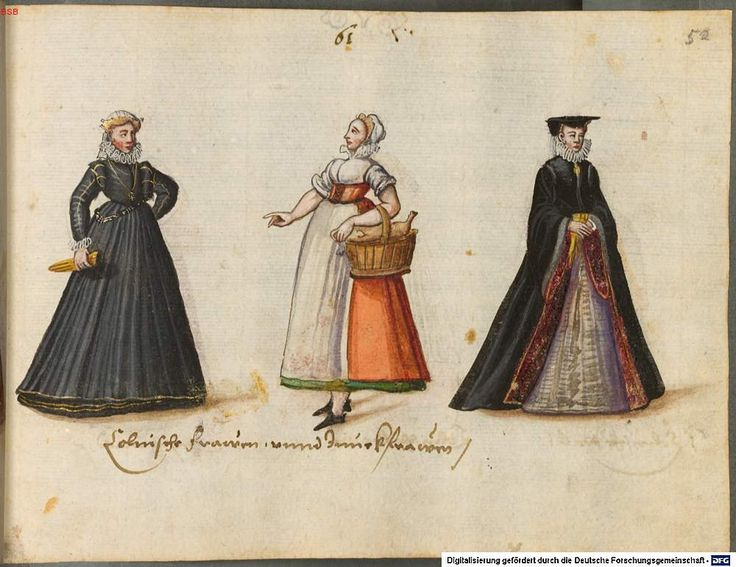 Women and maidens of Cologne 1576   Costumes of the 16th century from Western and Eastern Europe, the Orient, the New World and Africa