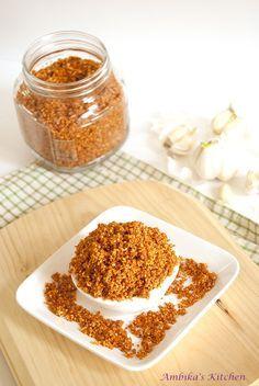 Peanut Garlic Chutney Powder.  Oh the possibilities.