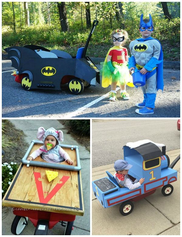Cinderella's Carriage Costume – Unknown source Mystery Machine Scooby Doo Costume Circus Lion in a Cage Finding Nemo Fish Tank Costume Wagon Bat Mobile Costume – Unknown source Mouse Trap on Wheels Thomas the Train Costume – Unknown source Pirate Ship Wagon Costume – Made by Jessica Gay Top Gun Costume   Make sure to …