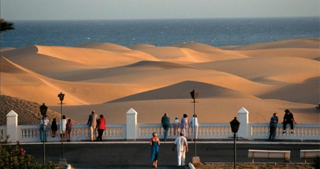 Spain, Canarias, Gran Canaria, Maspalomas Dunes