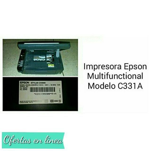 Producto Usado: IMPRESORA EPSON  MULTIFUNCTIONAL  MODELO C331A (CONTIENE CARTUCHOS)  Contacto. 0414-0102444  Sra. Alejandra  Ubicación: #Caracas Precio 150.000 Bs (NEGOCIABLE) . DESEAS PUBLICAR CON NOSOTROS? ESCRIBENOS UN DIRECT  #ventas #venezuela #lavadora #ofertas #ofertasenlinea  #venezuela #herbalife #marketing #entrepreneurship ##grind #hustle #learn  #marketing #success #successquotes #build #startuplife #businessowners #ambition  #start #money #businessman #businesswoman…