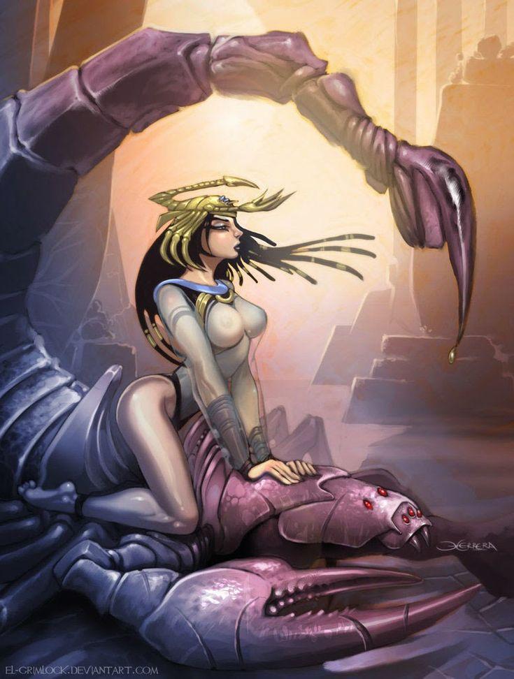 Serket - deusa escorpião egípcia e protetora contra as picadas de escorpião