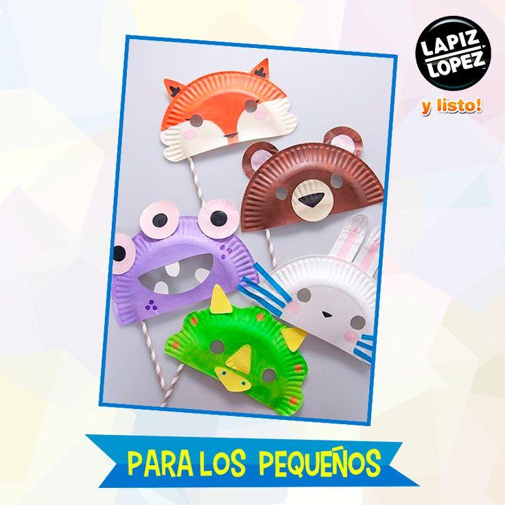 ¡Prepara una fiesta llena de color para los más chicos con estas divertidas máscaras de animales!