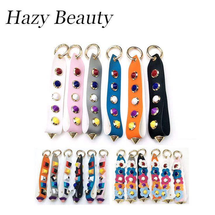 Hazy beauty split leather women handbag charms super chic lady shoulder bag accessory high quality spike design girls love SS194