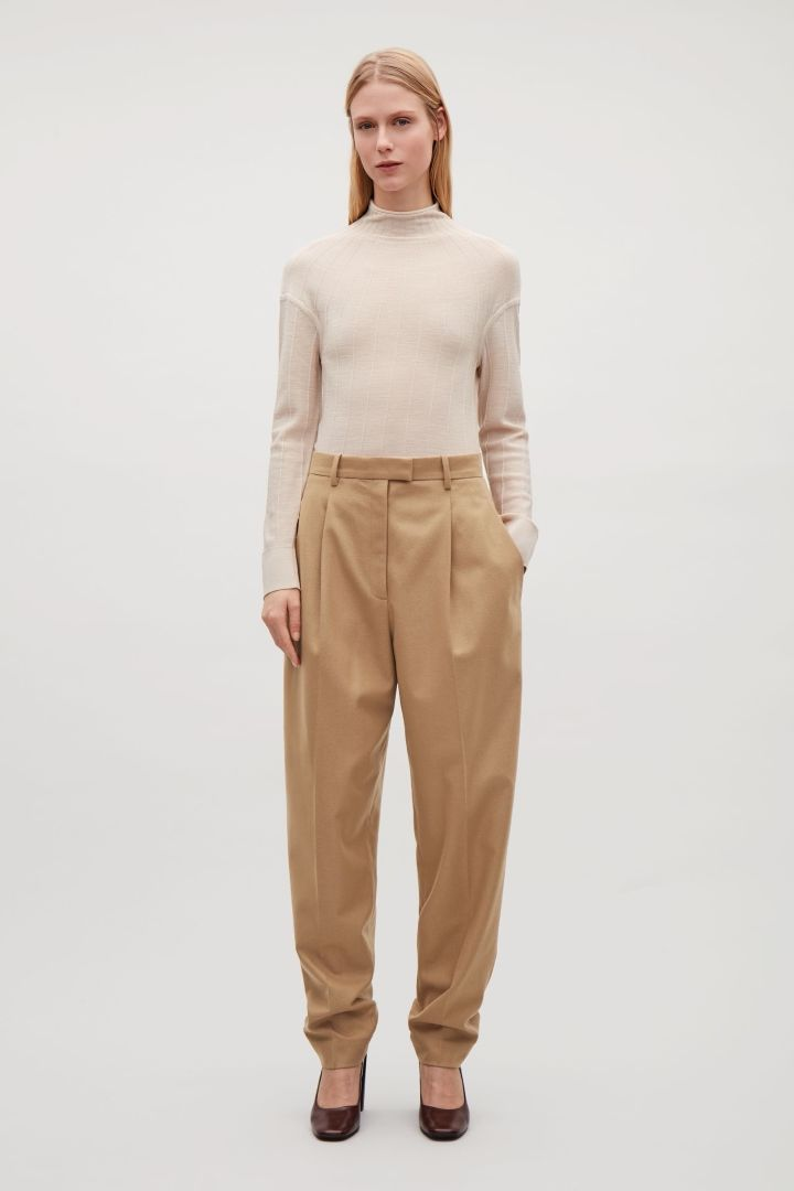 COS | Heavyweight wool tapered trousers