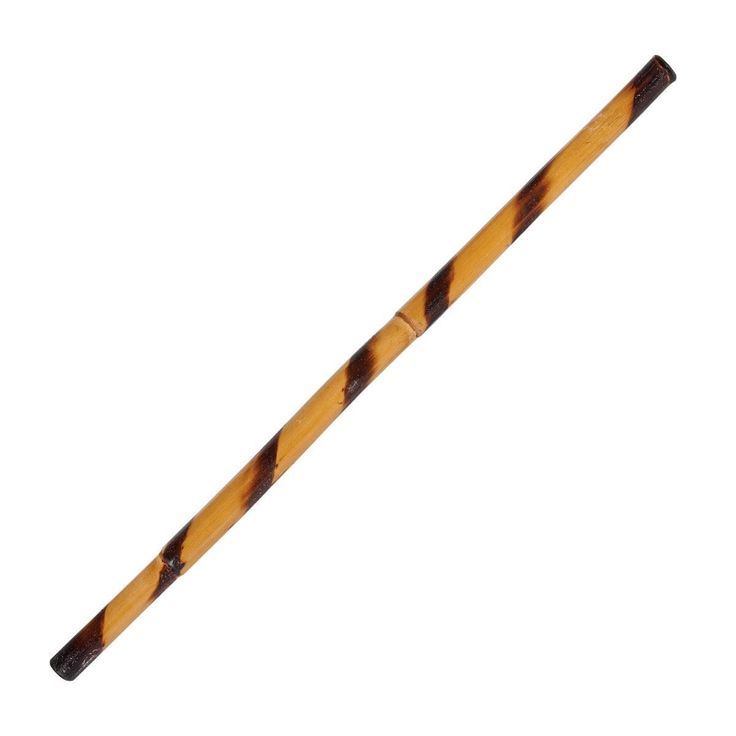 Hand Carved Escrima Stick c126. Hand Carved Escrima Stick c126 Escrima Stick   This classic, Filipino escrima stick features a rough, peeled finish and a burned spiral pattern. 100% bamboo.    Each sold separately. Approximately 26 or 28 inches.