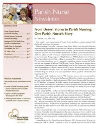 Parish Nurse Newsletter - The Lutheran Church—Missouri Synod