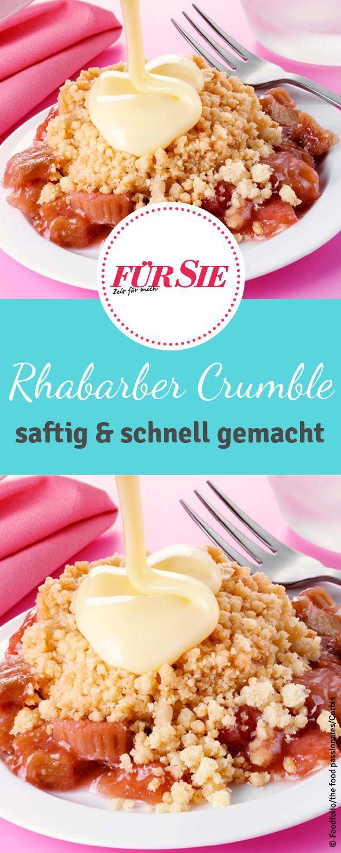 Mit unserem Rezept für fruchtigen Rhabarber Crumble begeistert ihr einfach jeden! Wie das geht erfahrt ihr bei uns.