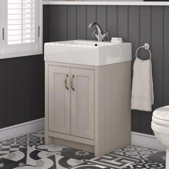 Darcy 570mm Traditional 2 Door Vanity Unit With Basin French Grey Drench Co Uk Luxuryba Traditional Bathroom Bathroom Interior Design Luxury Bathroom Vanity
