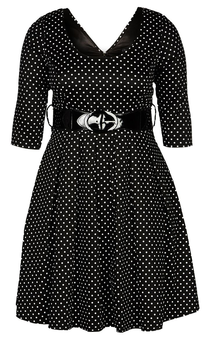 City Chic - RETRO ROXY DRESS - Women's Plus Size Fashion