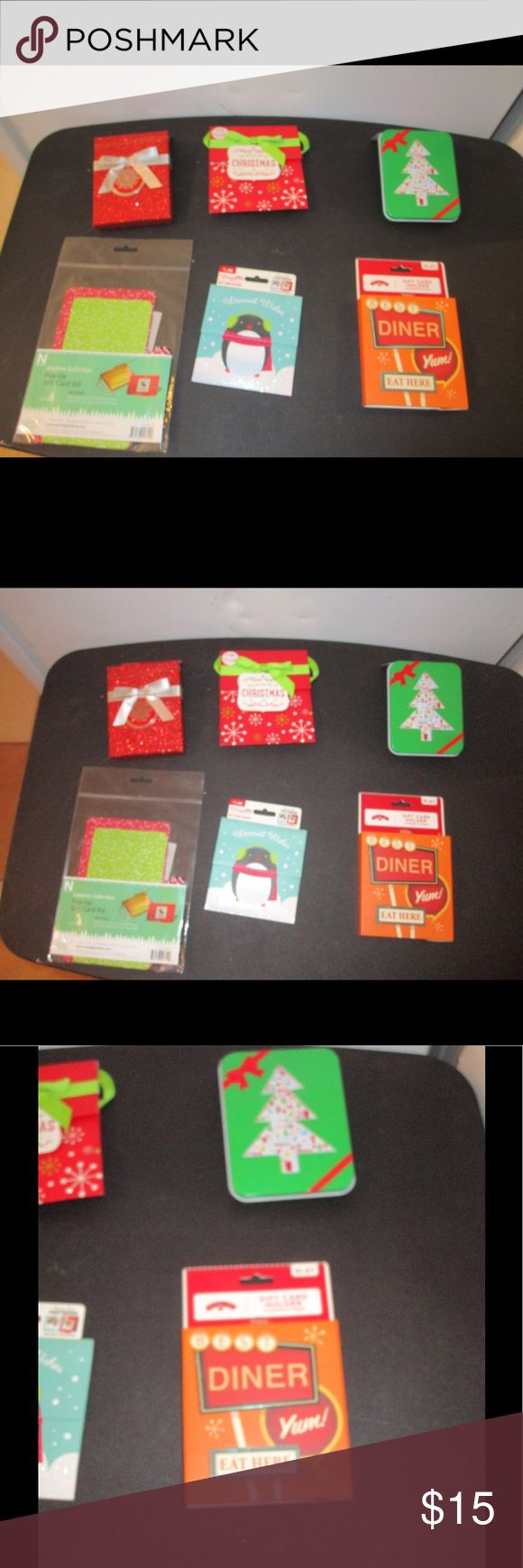 6 PACK BUNDLE OF GIFT CARD HOLDERS * NEW * BRAND NEW; 6 PACK BUNDLE ASSORTMENT OF GIFT CARD HOLDERS. PLEASE FEEL FREE TO ASK ANY QUESTIONS YOU MAY HAVE AND I WILL REPLY WITHIN 48 HOURS. THE BEST DEALS ARE BUNDLED SO LOOK AROUND MY CLOSET AND HAPPY SHOPPING! Other